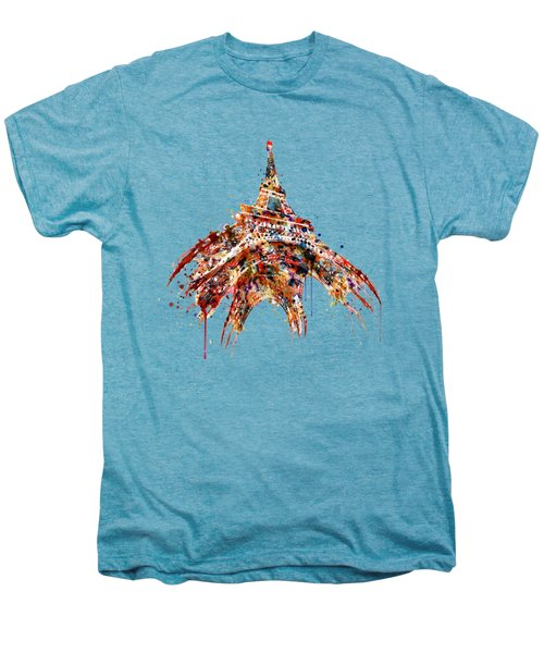 Eiffel Tower Watercolor Men's Premium T-Shirt by Marian Voicu