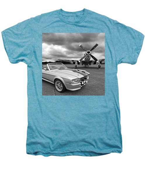 Eleanor Mustang With P51 Black And White Men's Premium T-Shirt