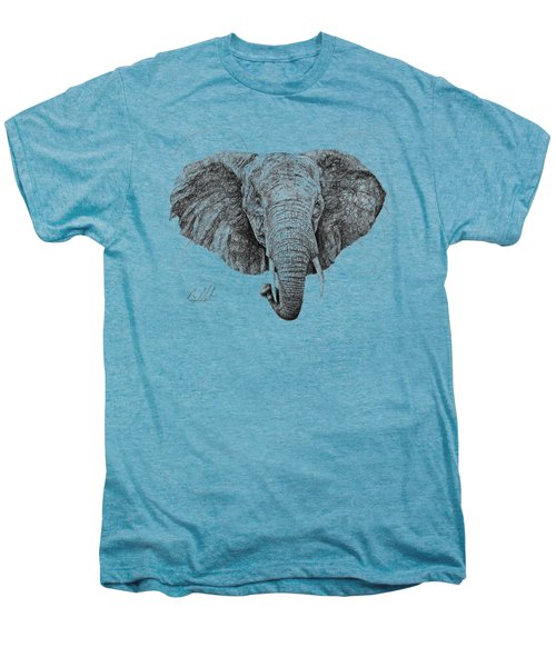 Elephant Men's Premium T-Shirt by Michael Volpicelli