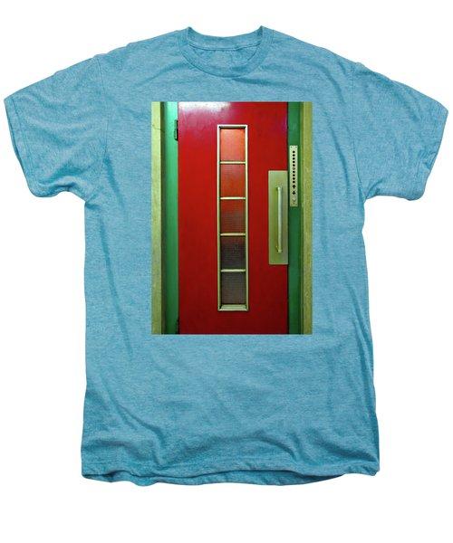 Elevator Door  Men's Premium T-Shirt by Ethna Gillespie