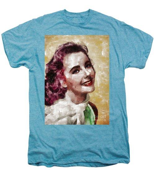 Elizabeth Taylor, Vintage Hollywood Legend By Mary Bassett Men's Premium T-Shirt by Mary Bassett