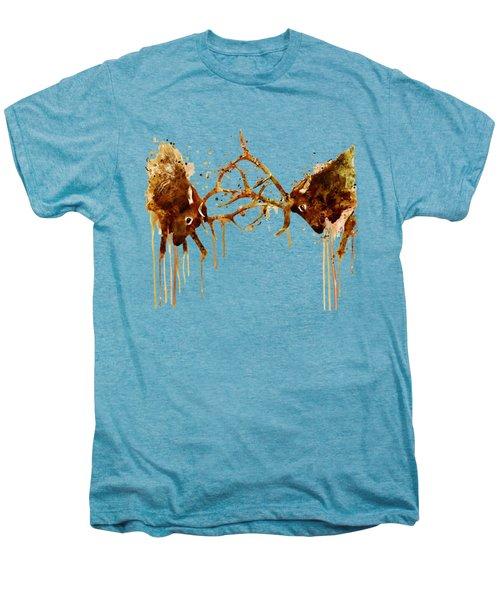 Elks Fight Men's Premium T-Shirt by Marian Voicu