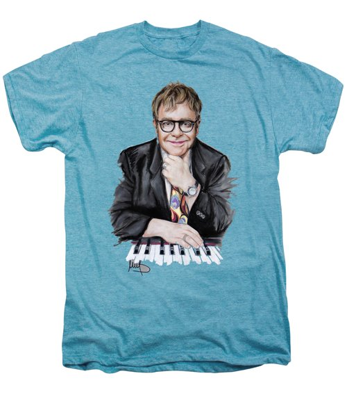Elton John Men's Premium T-Shirt by Melanie D