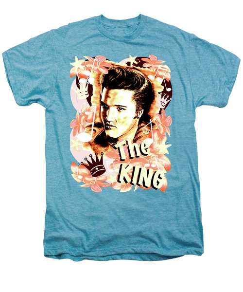 Elvis The King In Salmon Red Men's Premium T-Shirt