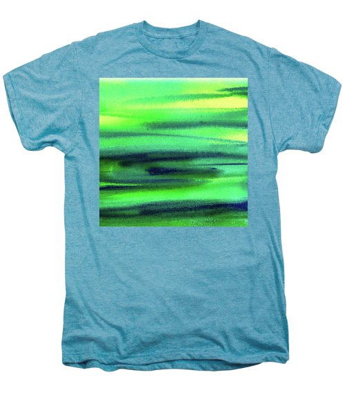 Emerald Flow Abstract Painting Men's Premium T-Shirt