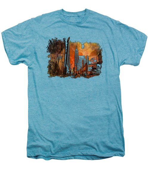 Empire State Reflections Earthy Rainbow 3 Dimensional Men's Premium T-Shirt by Di Designs