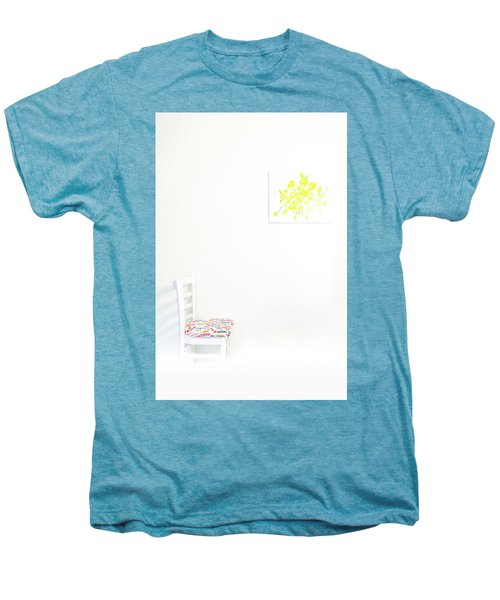 Empty Chair With Yellow Roses Men's Premium T-Shirt