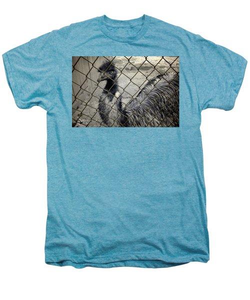 Emu At The Zoo Men's Premium T-Shirt by Luke Moore