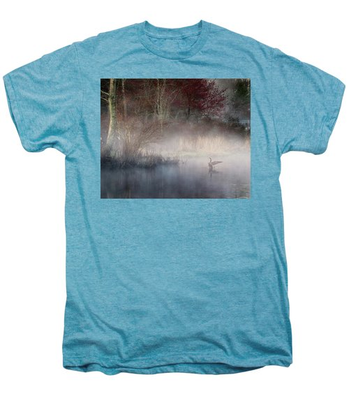 Men's Premium T-Shirt featuring the photograph Ethereal Goose by Bill Wakeley