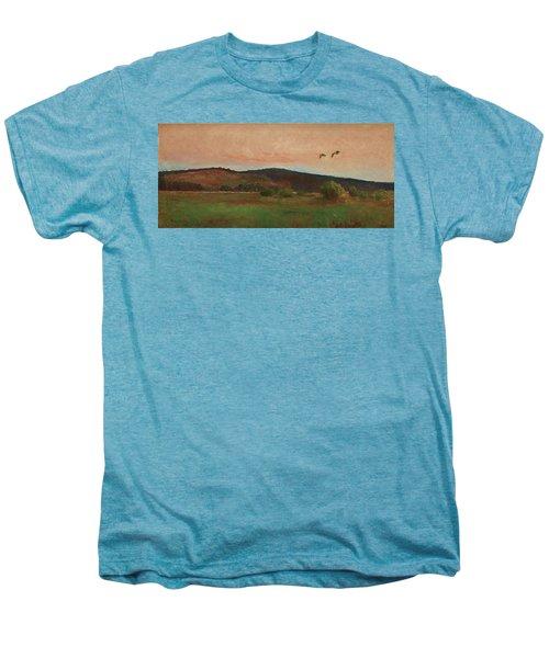 Eurasian Woodcocks Men's Premium T-Shirt by Bruno Liljefors
