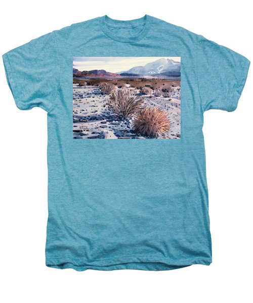 Evening In Death Valley Men's Premium T-Shirt by Donald Maier