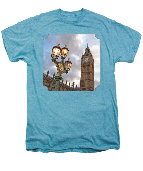 Evening Light At Big Ben Men's Premium T-Shirt by Gill Billington