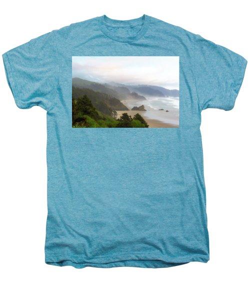 Falcon And Silver Point At Oregon Coast Men's Premium T-Shirt