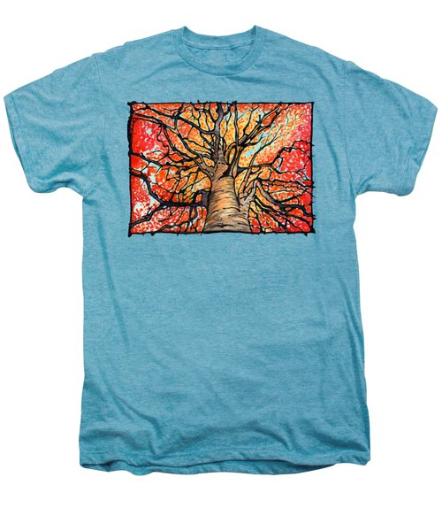 Fall Flush - Looking Up An Autumn Tree Men's Premium T-Shirt