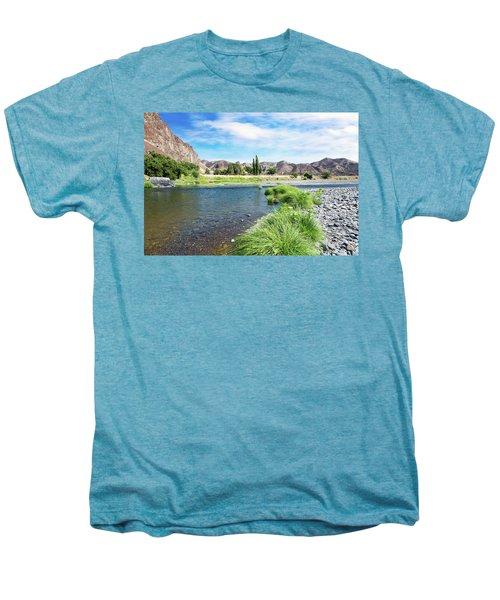 Farmland Along John Day River Men's Premium T-Shirt