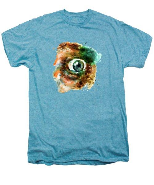 Fear Eye Watercolor Men's Premium T-Shirt by Marian Voicu