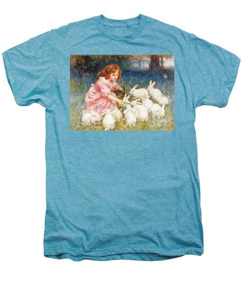 Feeding The Rabbits Men's Premium T-Shirt by Frederick Morgan