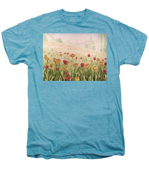 Field Of Tulips Men's Premium T-Shirt