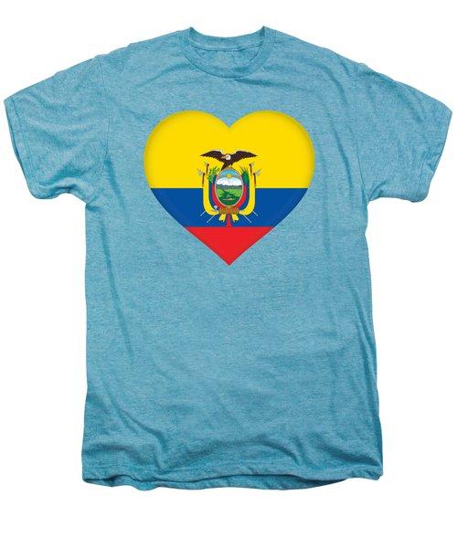 Flag Of Ecuador Heart Men's Premium T-Shirt