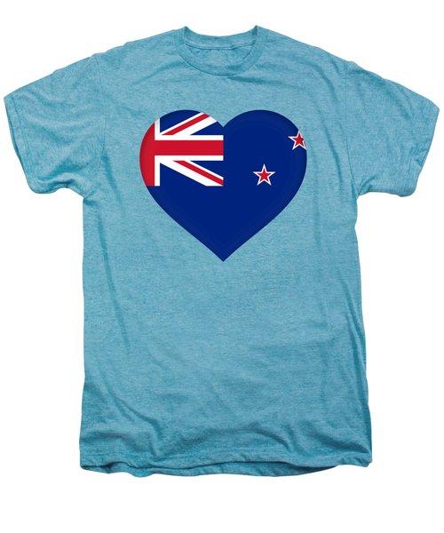 Flag Of New Zealand Heart Men's Premium T-Shirt by Roy Pedersen