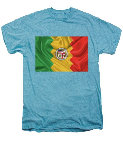 Flag Of The City Of Los Angeles Men's Premium T-Shirt by Serge Averbukh