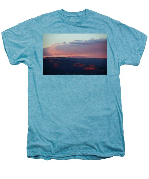Flagstaff's San Francisco Peaks Snowy Sunset Men's Premium T-Shirt