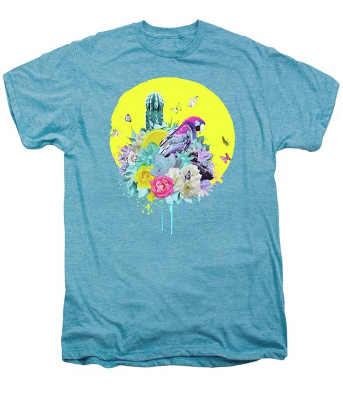 Floral Ara Men's Premium T-Shirt