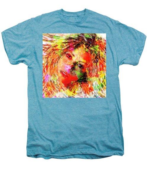 Flowery Shakira Men's Premium T-Shirt by Navo Art