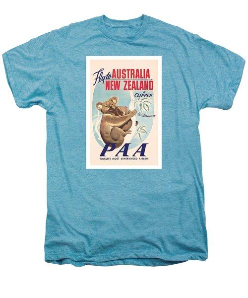 Fly To Australia, New Zealand By Clipper Koala Bears Men's Premium T-Shirt