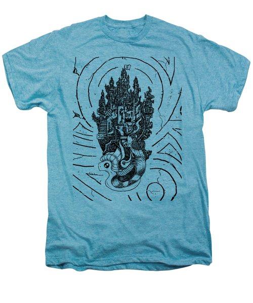 Flying Castle Men's Premium T-Shirt by Sotuland Art