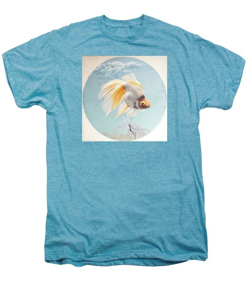 Flying In The Clouds Of Goldfish Men's Premium T-Shirt by Chen Baoyi