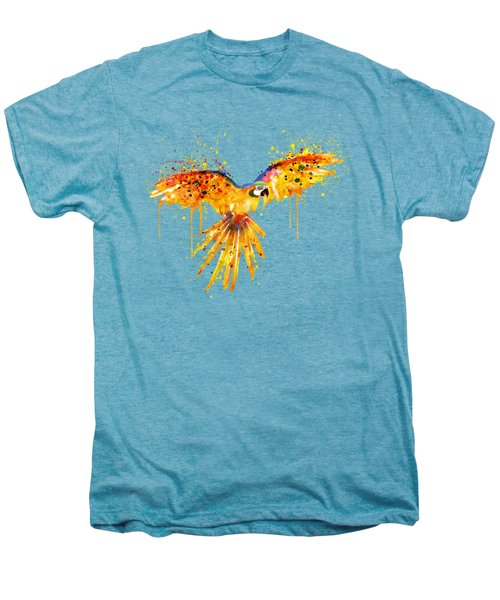 Flying Parrot Watercolor Men's Premium T-Shirt by Marian Voicu