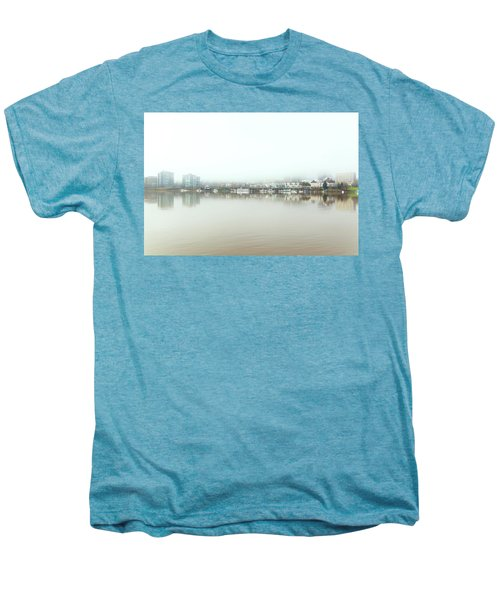 Foggy Day On Portland Downtown Waterfront Men's Premium T-Shirt