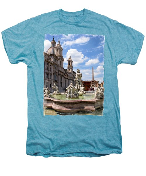 Fontana Del Moro.rome Men's Premium T-Shirt by Jennie Breeze