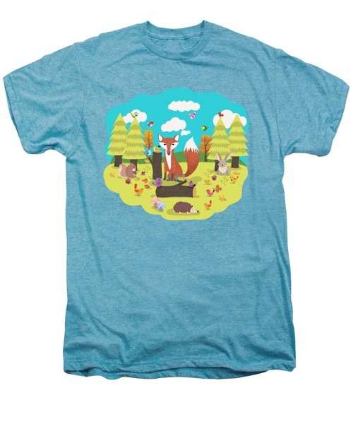 Forest Friends Fall Frolic Men's Premium T-Shirt
