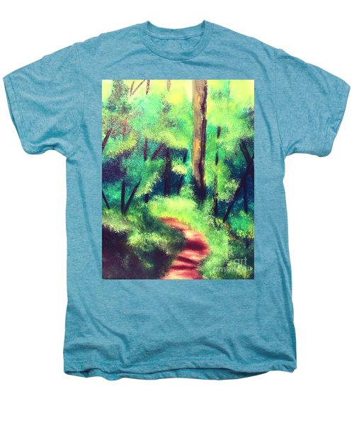 Forest Path Men's Premium T-Shirt