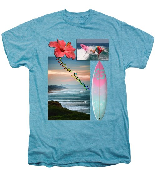 Men's Premium T-Shirt featuring the photograph Forever Summer 5 by Linda Lees