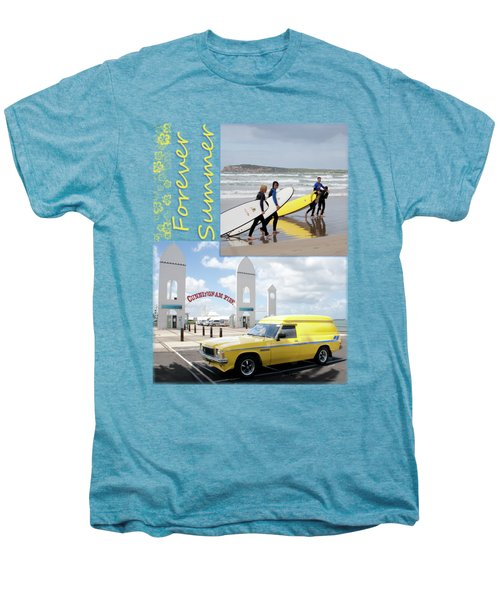 Men's Premium T-Shirt featuring the photograph Forever Summer 6 by Linda Lees