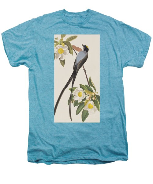 Fork-tailed Flycatcher  Men's Premium T-Shirt by John James Audubon
