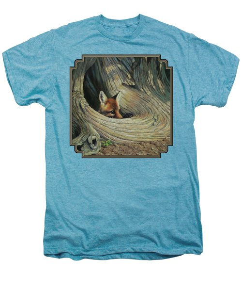 Fox - It's A Big World Out There Men's Premium T-Shirt by Crista Forest