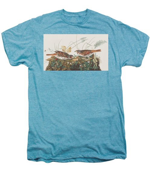 Fox Sparrow Men's Premium T-Shirt by John James Audubon