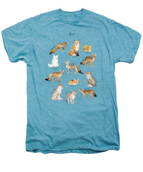 Foxes Men's Premium T-Shirt by Amy Hamilton