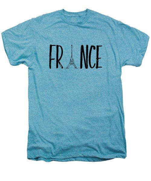 France Typography Men's Premium T-Shirt by Melanie Viola