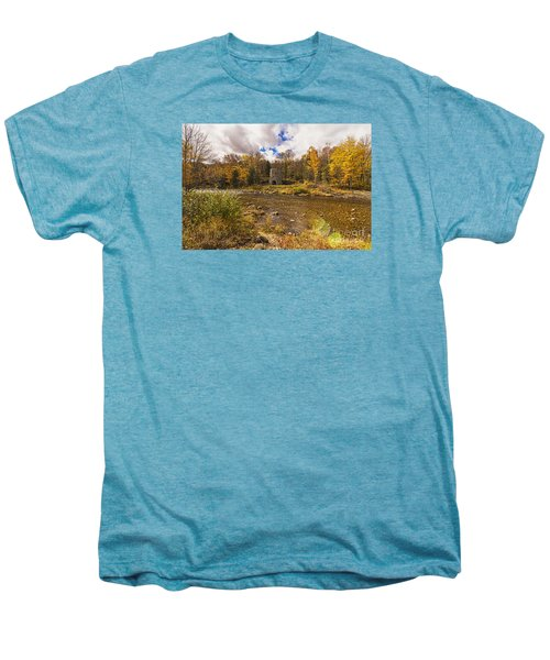 Men's Premium T-Shirt featuring the photograph Franconia Iron Works by Anthony Baatz