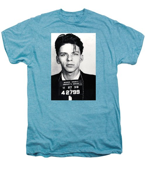 Frank Sinatra Mug Shot Vertical Men's Premium T-Shirt
