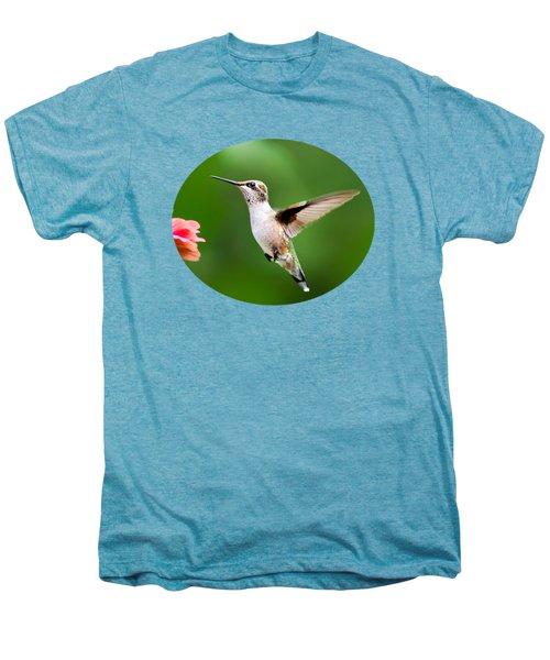 Free As A Bird Hummingbird Men's Premium T-Shirt by Christina Rollo