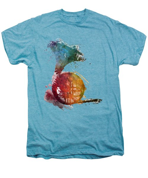 French Horn Colored Musical Instruments Men's Premium T-Shirt