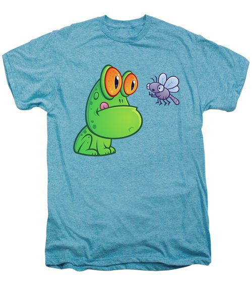 Frog And Dragonfly Men's Premium T-Shirt