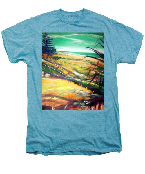 Men's Premium T-Shirt featuring the painting From The Lawn Pandanus by Winsome Gunning