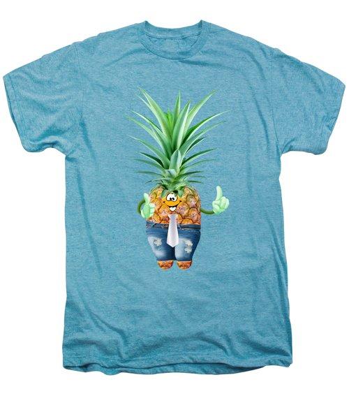 Fun Pineapple  Men's Premium T-Shirt by Elena Nikolaeva